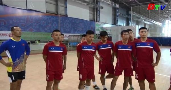 Tuyển Futsal Việt Nam chuẩn bị cho lượt trận thứ 2  tại Aimag 5 - 2017