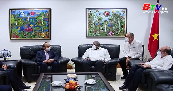 Chủ tịch nước tới La Habana, bắt đầu thăm chính thức Cuba