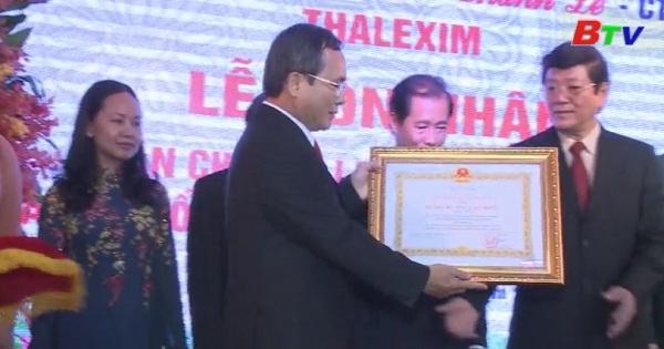 Tồng công ty thương mại xuất nhập khẩu Thanh Lễ đón nhận Huân chương Lao động Hạng Nhất