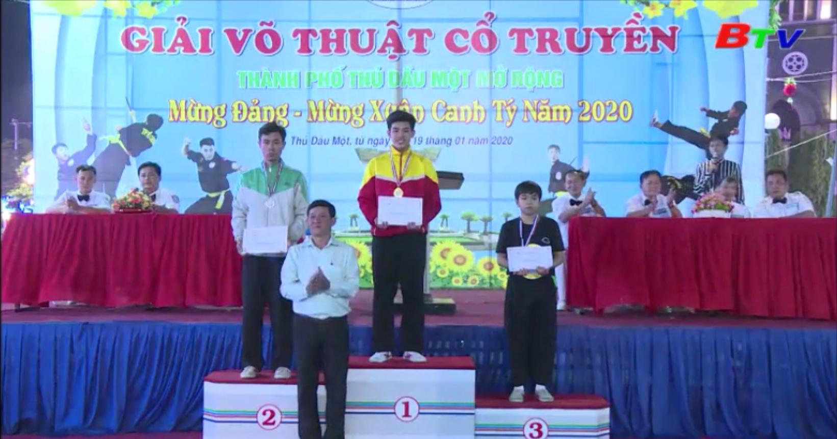 Sôi nổi Giải võ thuật cổ truyền TP. Thủ Dầu Một mở rộng Mừng Đảng, Mừng Xuân 2020