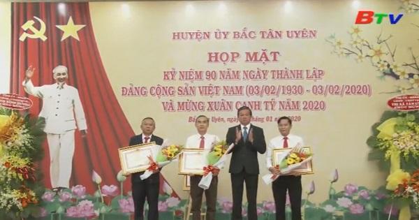 Huyện Bắc Tân Uyên họp mặt kỷ niệm 90 năm ngày thành lập Đảng Cộng sản Việt Nam