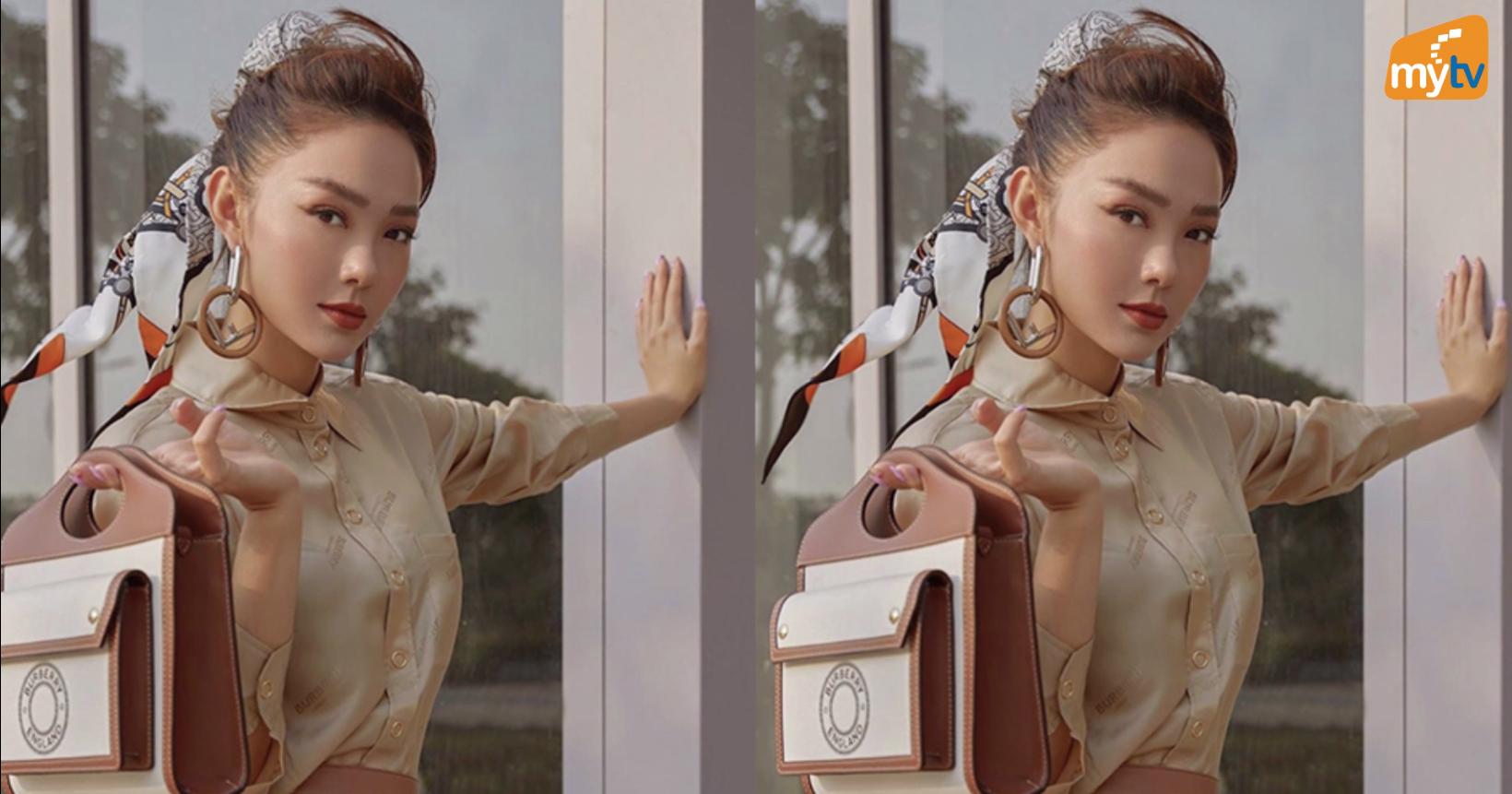 Phối khăn buộc tóc như Minh Hằng