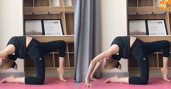 Thiều Bảo trâm giữ dáng nhờ  yoga