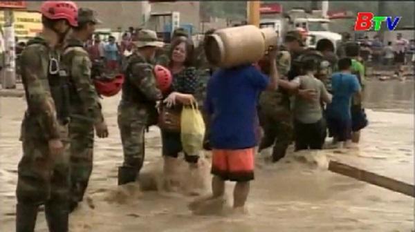 Peru chuẩn bị ngân sách lớn khắc phục hậu quả mưa lũ