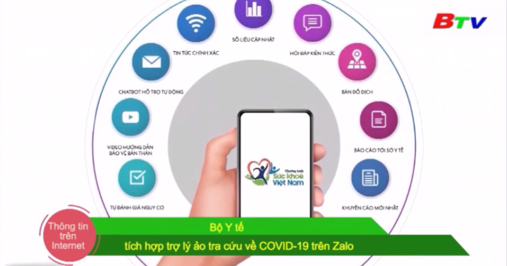 Bộ Y tế tích hợp trợ lý ảo tra cứu về COVID-19 trên Zalo