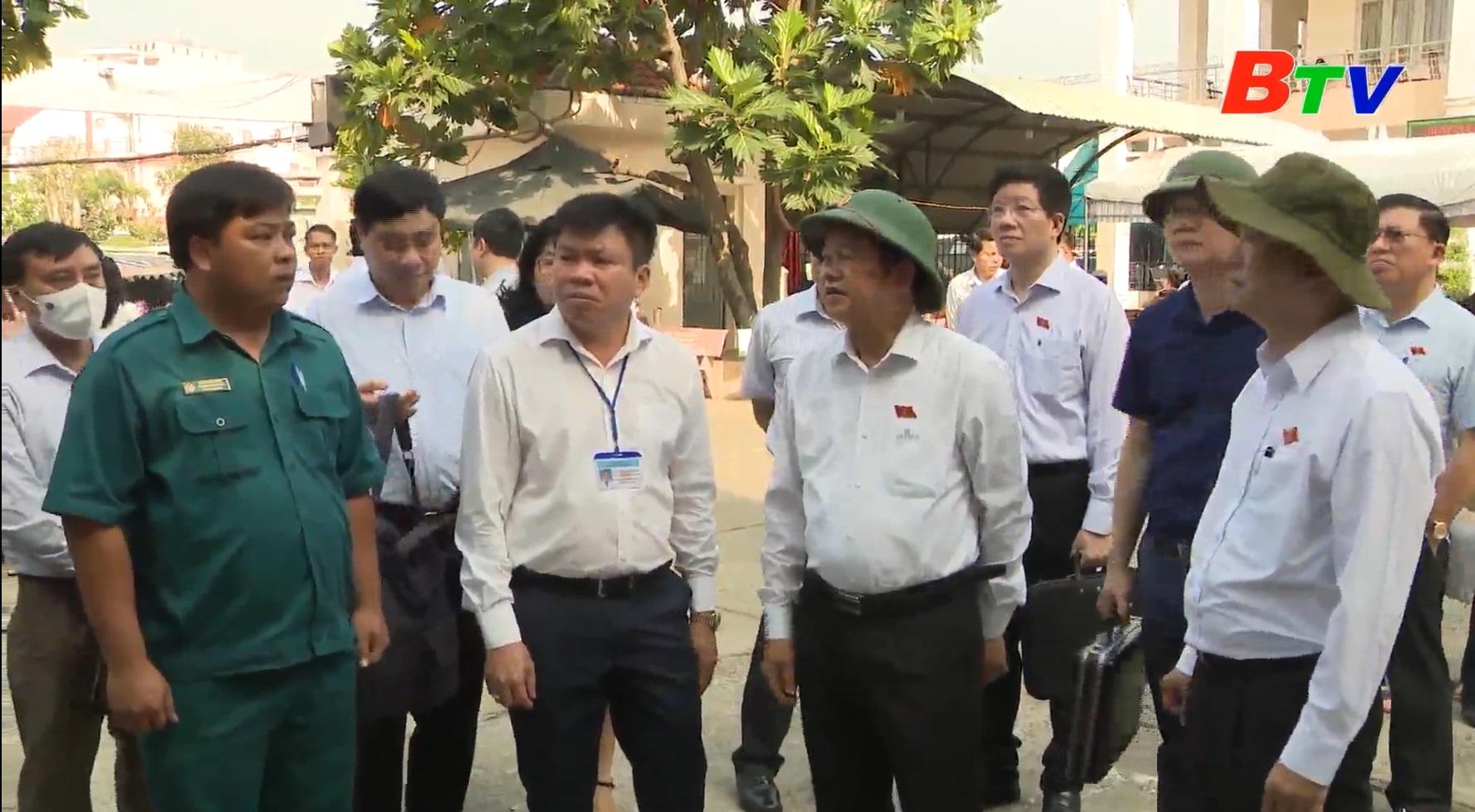 Ủy ban Thường vụ Quốc hội, Hội đồng bầu cử quốc gia kiểm tra công tác chuẩn bị bầu cử tại Thành phố Thuận An