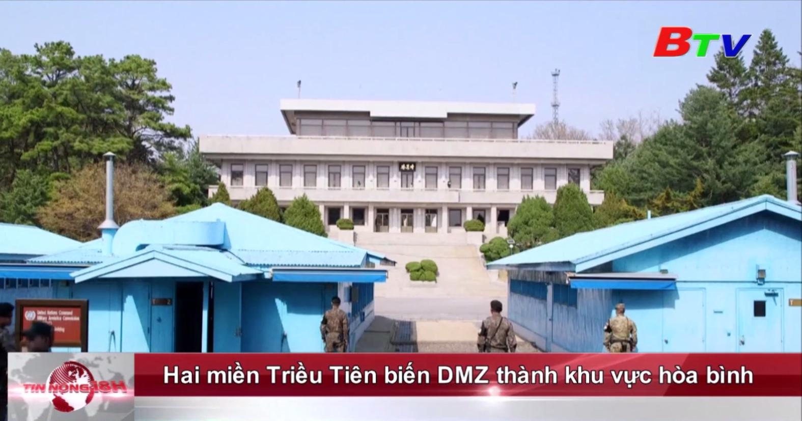 Hai miền Triều Tiên biến DMZ thành khu vực hòa bình