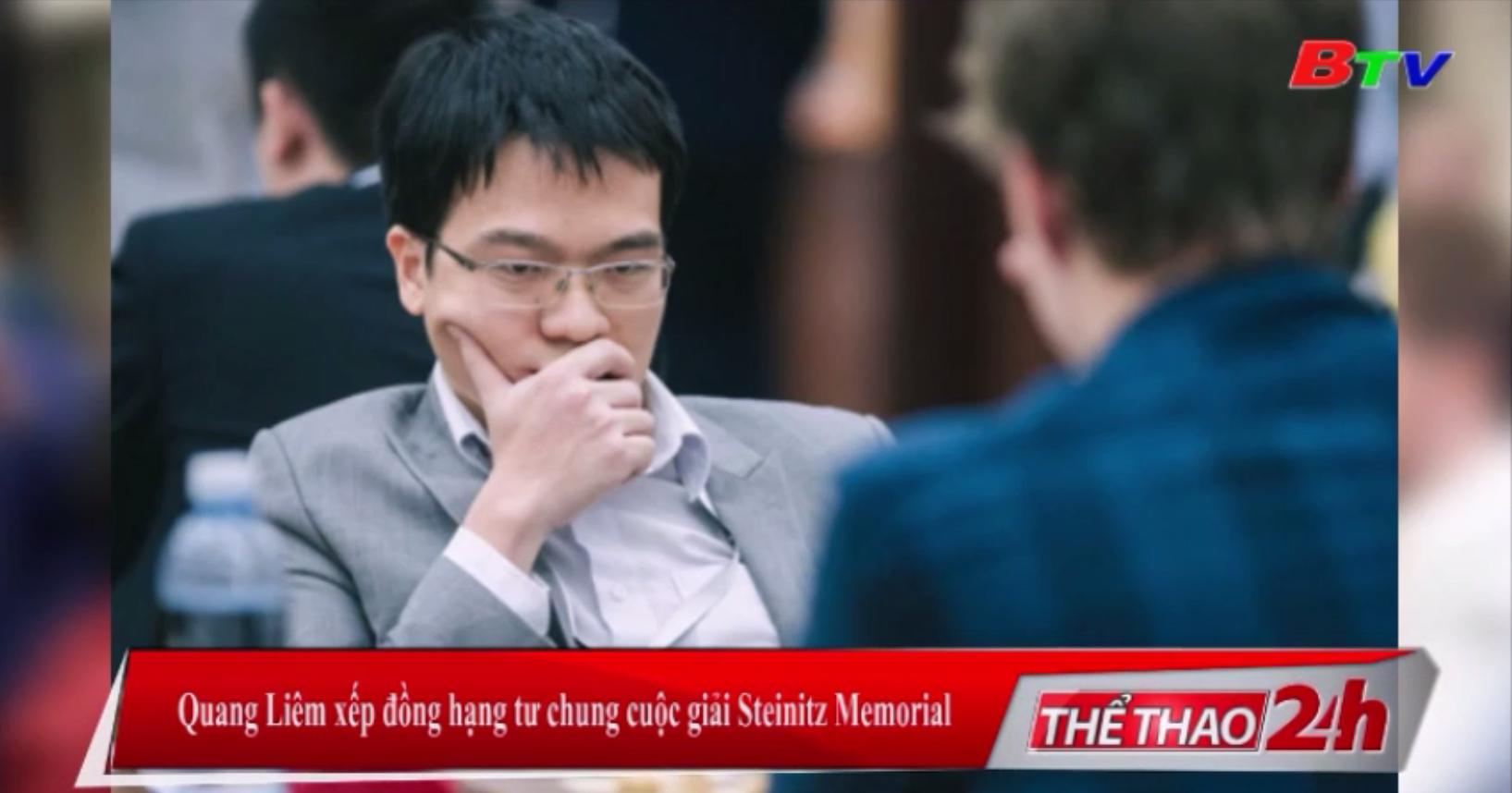 Quang Liêm xếp đồng hạng Tư chung cuộc giải Steinitz Memorial
