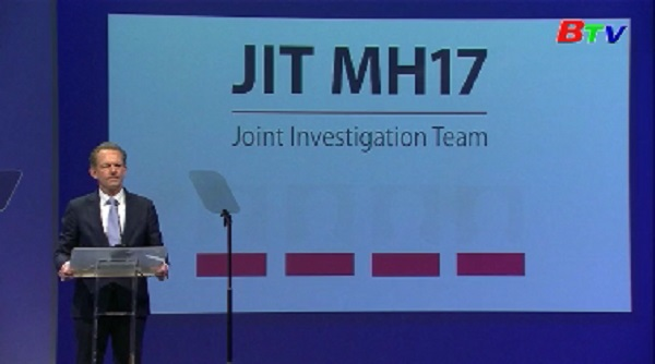 Vụ rơi máy bay MH17 - Trưởng Công tố Hà Lan truy tố 4 nghi can
