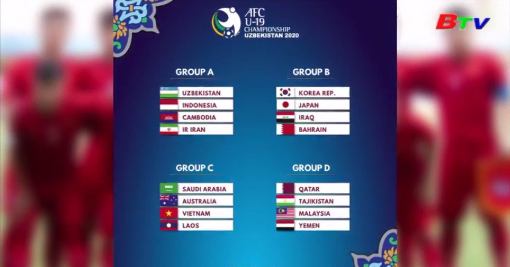 Bốc thăm vòng bảng VCK U19 châu Á 2020