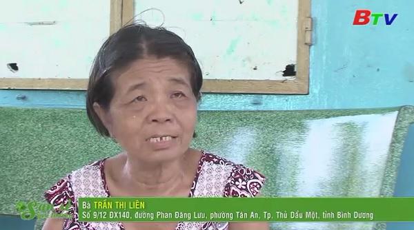 San Sẻ Yêu Thương - Hoàn cảnh bà Trần Thị Liên (9/12 D9X140, Phan Đăng Lưu, Tân An, TP.TDM, Bình Dương)