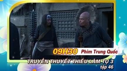 Phim Truyền Thuyết Thiếu Lâm Tự trên BTV2 ngày 20/10/2016