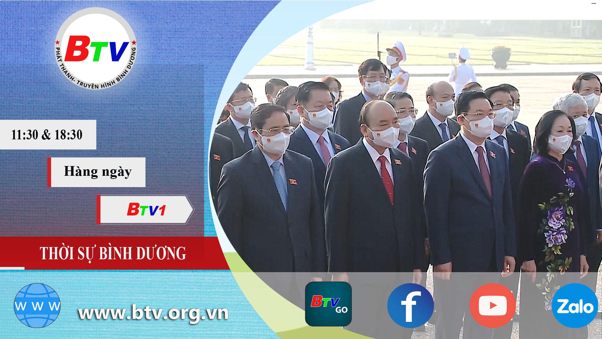 Đoàn Đại biểu Quốc hội khóa XV viếng lăng Chủ tịch Hồ Chí Minh