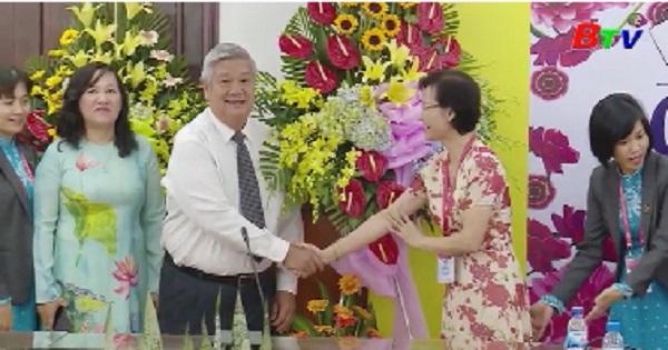 Lãnh đạo UBND tỉnh Bình Dương thăm các trường nhân ngày Nhà giáo Việt Nam