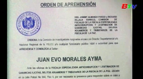 Bolivia phát lệnh bắt giữ cựu Tổng thống Evo Morales