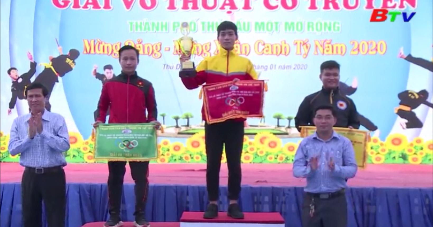 Giải võ thuật cổ truyền TP. Thủ Dầu Một mở rộng Mừng Đảng, Mừng Xuân 2020 – TP.TDM nhất toàn đoàn