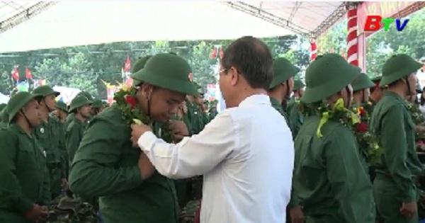 Thành phố Thủ Dầu Một hoàn thành công tác giao nhận quân năm 2019