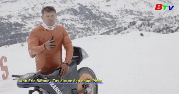 Eric Barone lập kỷ lục leo núi đổ dốc thế giới