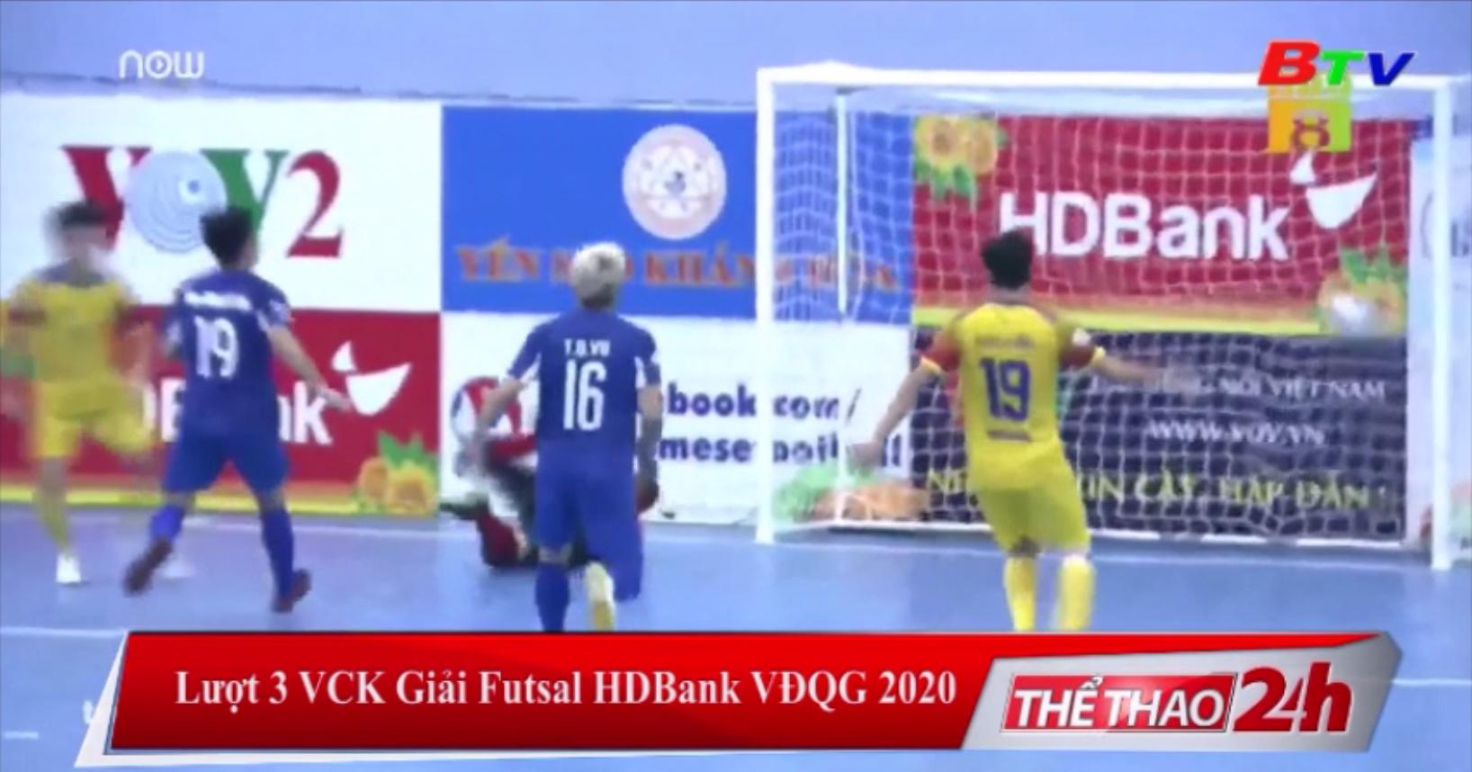 Lượt 3 VCK Giải Futsal HDBank VĐQG 2020