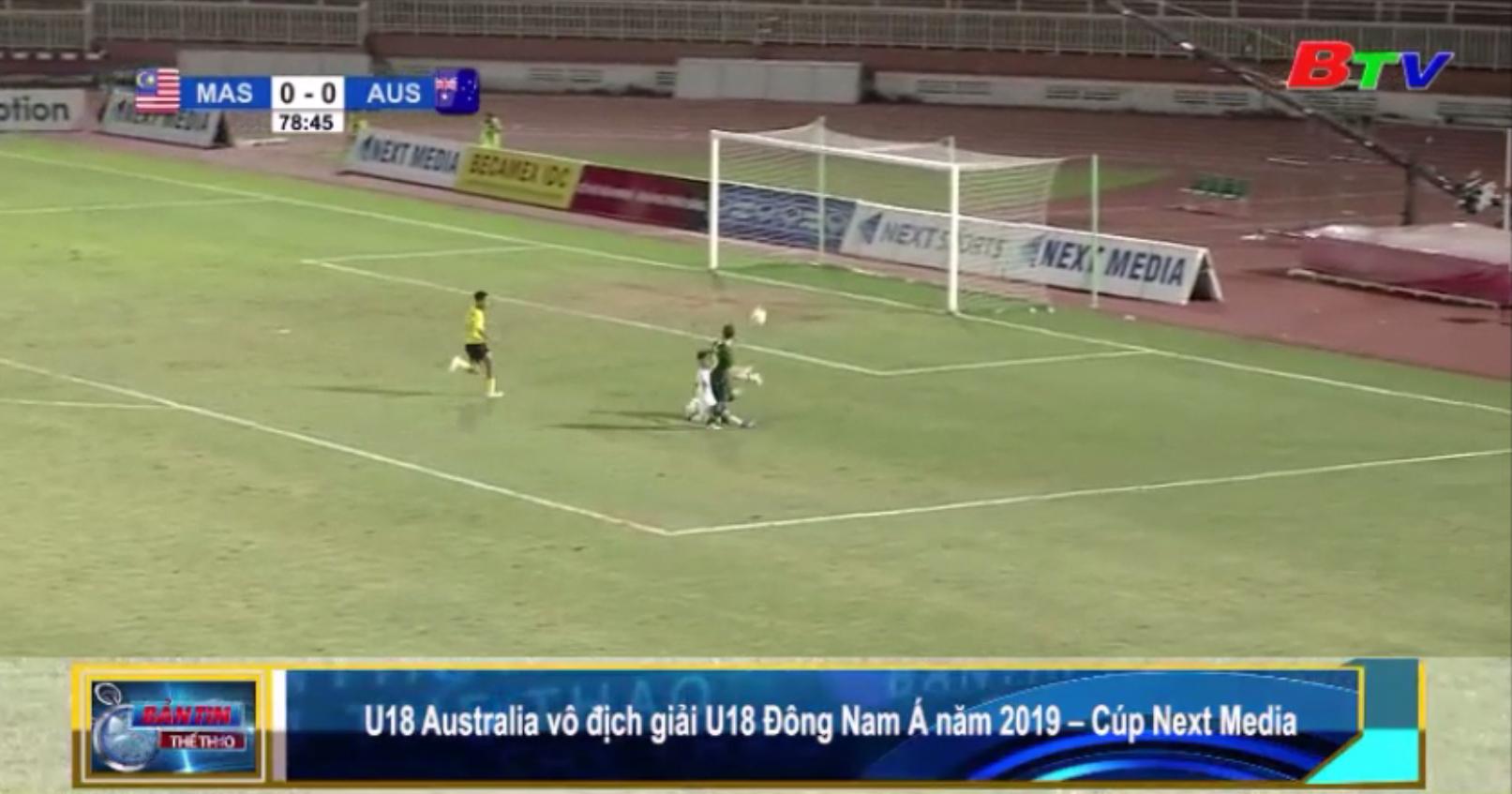U18 Australia vô địch giải U18 Đông Nam Á năm 2019 - Cúp Next Media