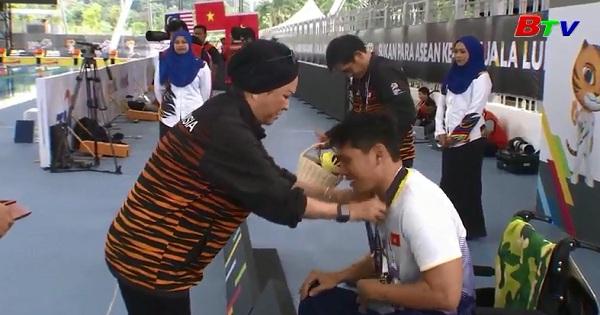 VĐV bơi Thanh Tùng phá kỷ lục tại Đại hội thể thao người khuyết tật Đông Nam Á 2017