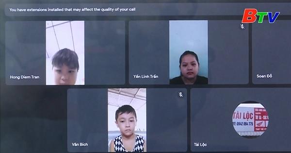 Bàu Bàng quan tâm cho con em người lao động đến trường