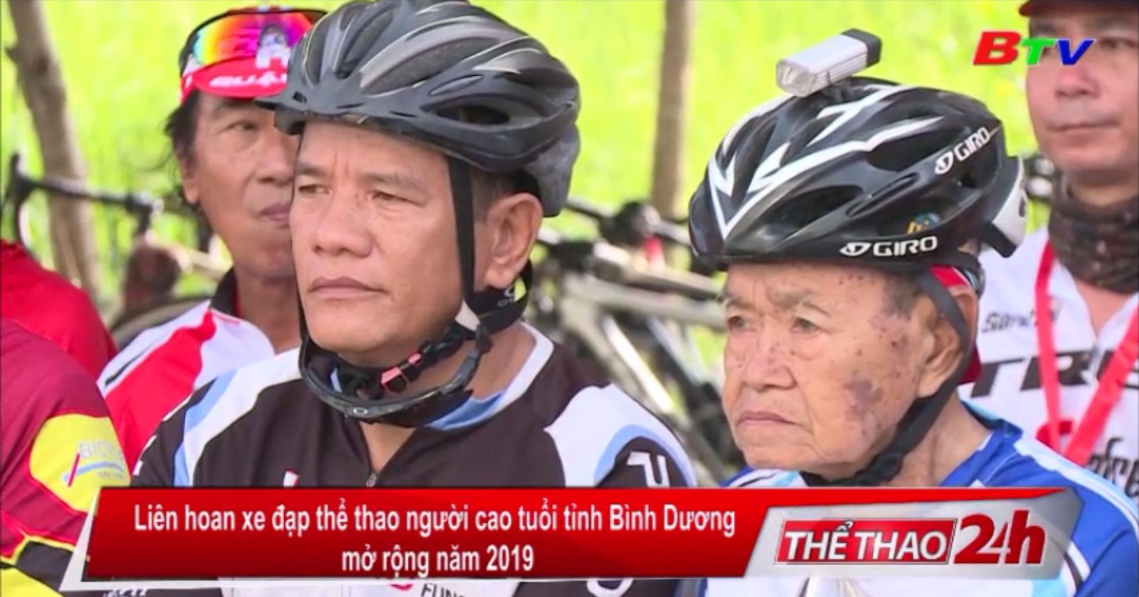 Liên hoan xe đạp thể thao người cao tuổi tỉnh Bình Dương mở rộng 2019