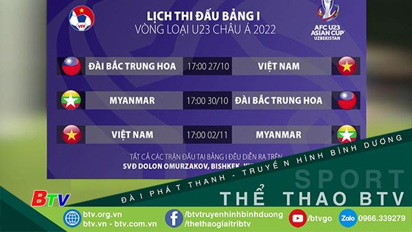 Lịch thi đấu chính thức của tuyển U23 Việt Nam