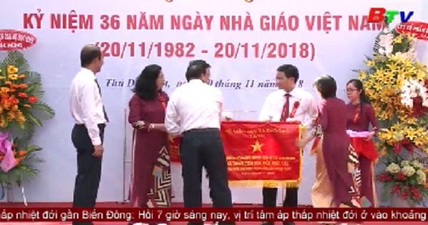 Các địa phương và trường học trên địa bàn tỉnh Bình Dương chào mừng ngày Nhà giáo Việt Nam 20/11