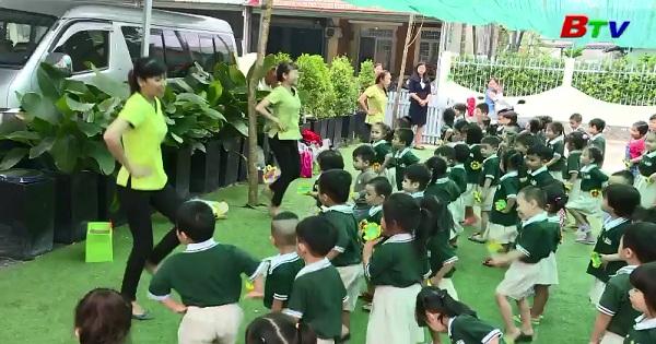 Giúp trẻ vui khỏe cùng thể dục buổi sáng