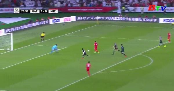 Kết quả vòng 1/8 Asian Cup 2019 - UAE  3-2 Kyrgystan