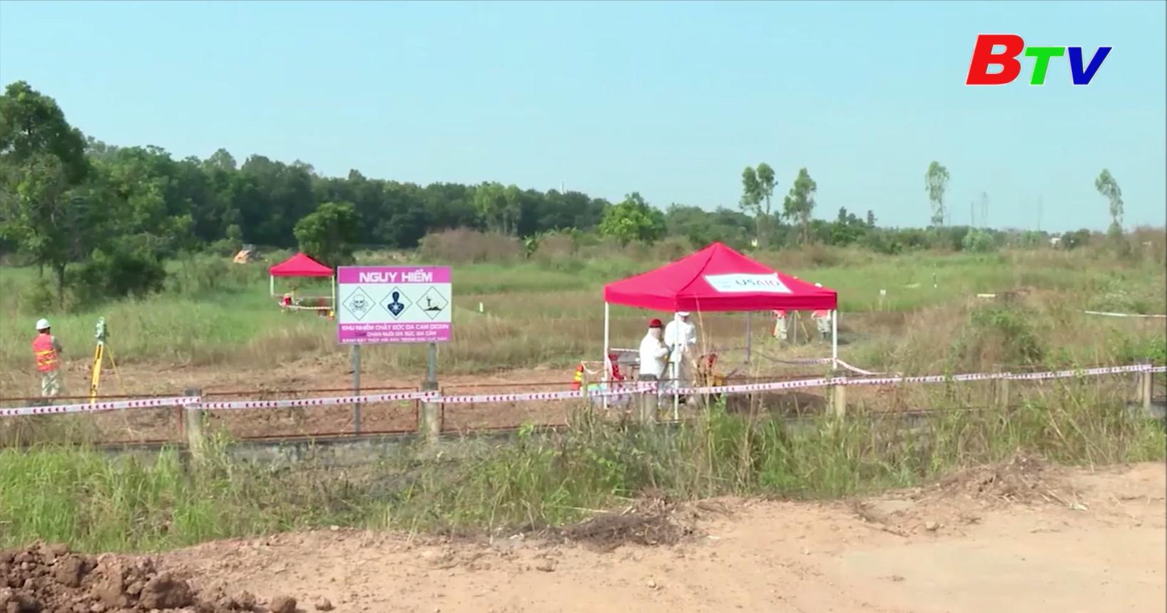 Hoàn thành xử lý Dioxin hồ Cổng 2 sân bay Biên Hòa, Đồng Nai