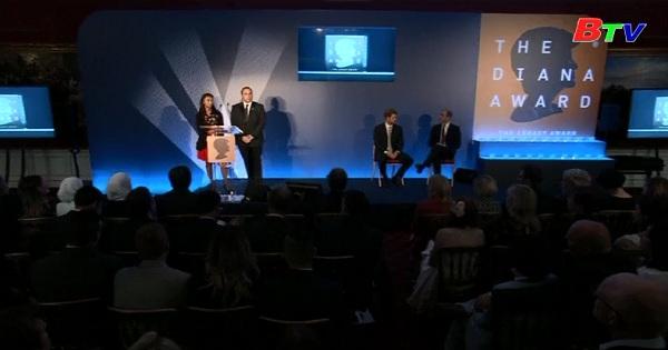 20 thanh niên nhận Giải Diana Award, tưởng nhớ công nương Diana