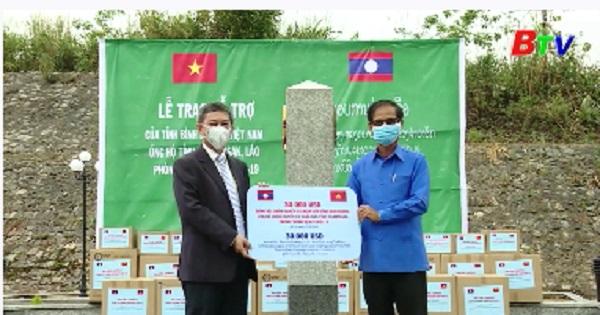 Bình Dương thăm, trao tặng vật tư y tế tỉnh Chămpasắc - Lào
