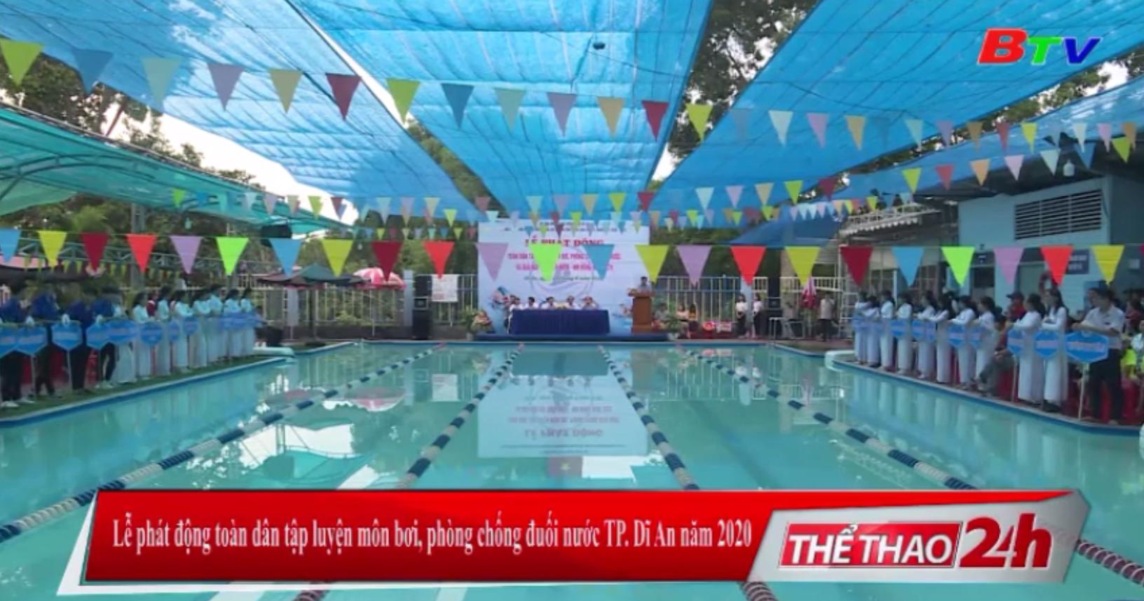 Lễ phát động toàn dân tập luyện môn bơi, phòng chống đuối nước TP. Dĩ An năm 2020