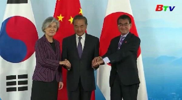 Các ngoại trưởng Trung-Nhật-Hàn nhất trí tăng cường hợp tác ba bên