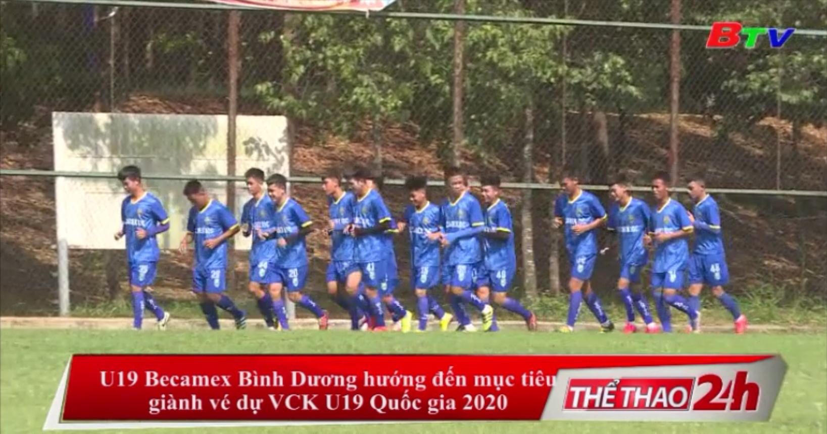 U19 Becamex Bình Dương hướng đến mục tiêu giành vé dự VCK U19 Quốc gia 2020