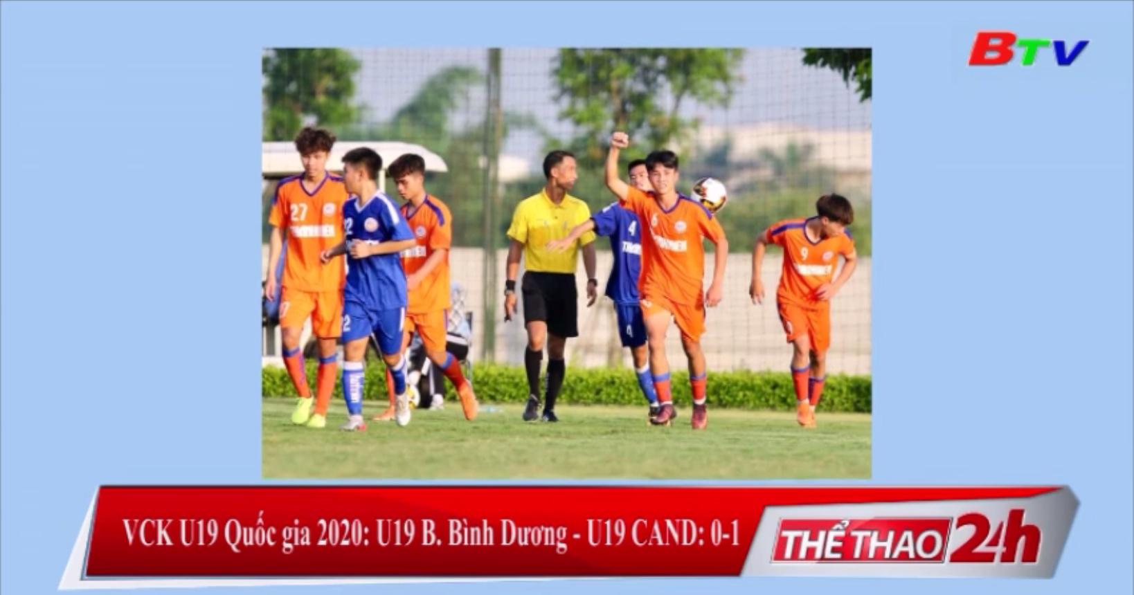 VCK U19 Quốc gia 2020 – U19 B.Bình Dương 0-1 U19 CAND