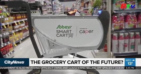 Amazon giới thiệu công nghệ mới xe đẩy hàng thông minh