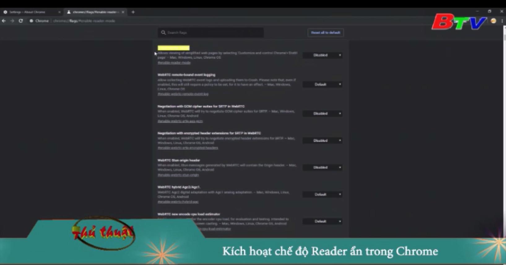 Kích hoạt chế độ Reader ẩn trong Chrome