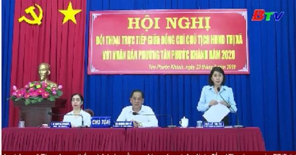 Chủ tịch HĐND thị xã Tân Uyên đối thoại với người dân phường Tân Phước Khánh