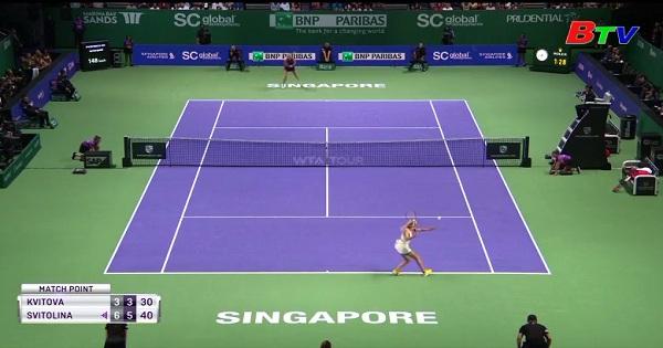 Kết quả lượt trận mở màn bảng Trắng Giải quần vợt  WTA  Finals 2018