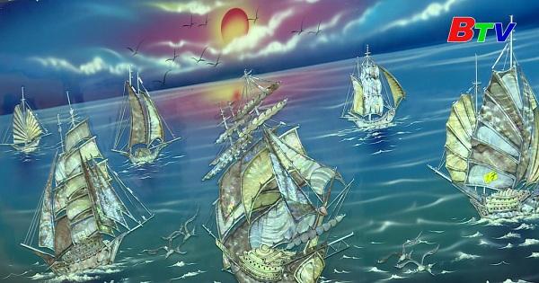 Nghệ thuật trên tranh sơn mài ở Bình Dương