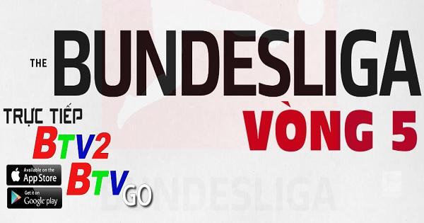 Lịch trực tiếp vòng 5 Giải Bundesliga 2020 - 2021 trên kênh BTV2 và ứng dụng BTVGo
