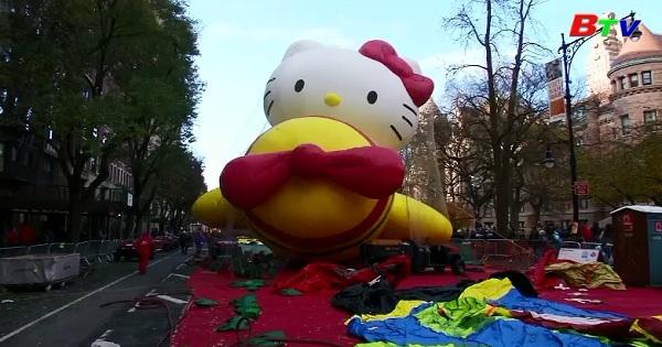 Trước thềm lễ diễu hành tạ ơn Macy ở Mỹ