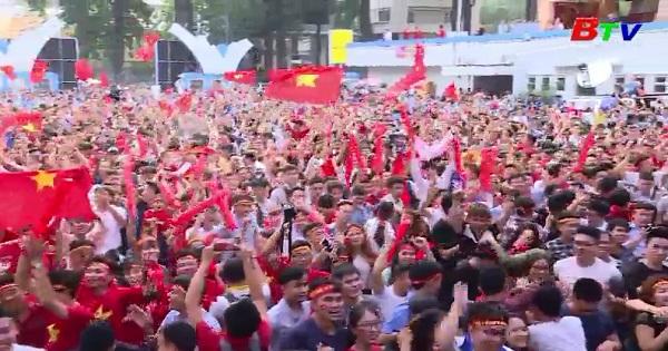 Cả nước vui mừng trước chiến thắng của U23 Việt Nam