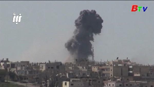 Israel tấn công doanh trại Syria ở cao nguyên Golan