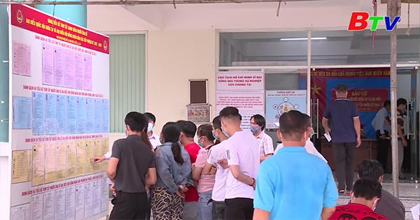 Tiến độ bầu cử ở Bến Cát đến 16 giờ