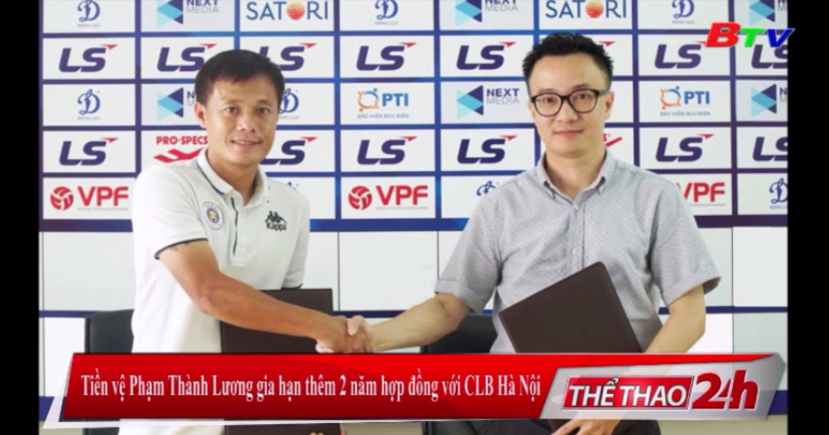 Tiền vệ Phạm Thành Lương gia hạn thêm 2 năm hợp đồng với CLB Hà Nội