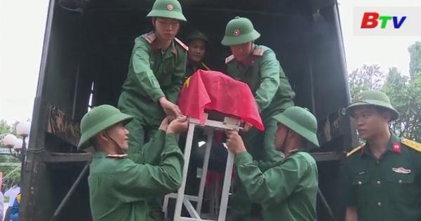 Di dời 11 hài cốt liệt sĩ về nghĩa trang liệt sĩ Tân Uyên